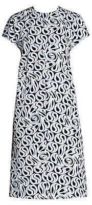 Marni Women's Printed Stretch Shift Dress