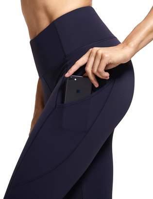 CRZ YOGA Women's Naked Feeling High Waist Out Pocket Stretchy Running Leggings M