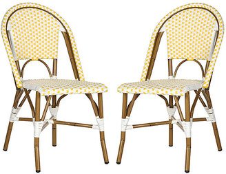 One Kings Lane Yellow Sasha Bistro Side Chair - Set of 2