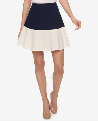 Tommy Hilfiger Colorblocked Fit & Flare Skirt $79 thestylecure.com