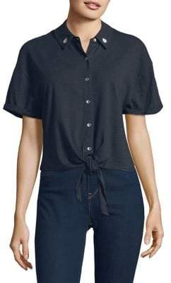 Splendid Roma Cotton Button-Down Shirt