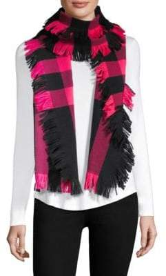 Burberry Buffalo Plaid Wool Scarf
