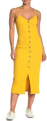 Lumiere Button Knit Midi Dress