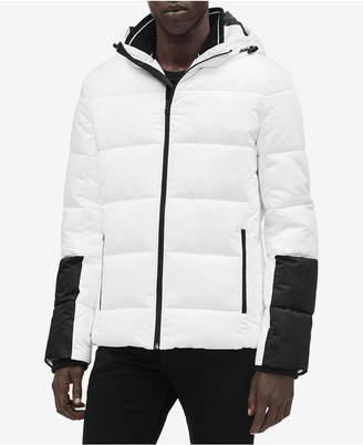 Calvin Klein Men's Colorblocked Puffer Coat