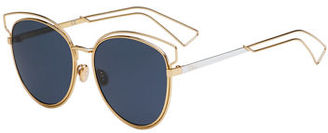 Dior Sideral 2 Metal Sunglasses $480 thestylecure.com