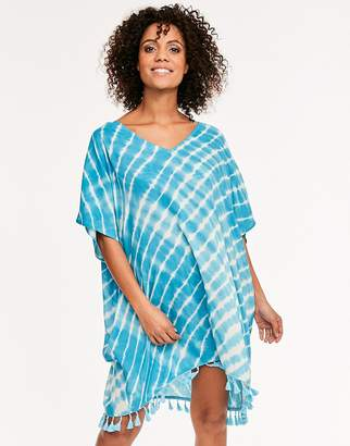 93ffb7537960a Figleaves Capri Tie Dye Woven Cover Up Kaftan