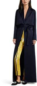 Lanvin Women's Washed Satin Belted Trench Dress - Navy