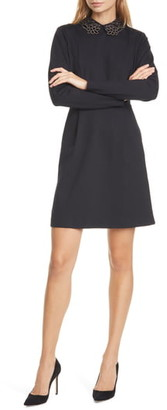 Ted Baker Calliea Applique Long Sleeve Skater Dress