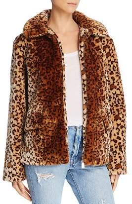 Anine Bing Molly Faux-Fur Leopard Jacket