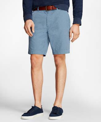 Brooks Brothers Gingham Cotton Seersucker Shorts