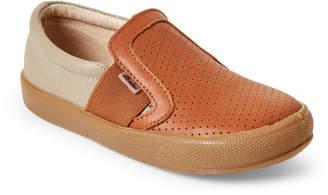 Old Soles Toddler/Kids Boys) Tan & Grey Praise Hoff Slip-On Sneakers