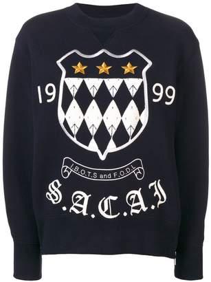 Sacai embroidered sweatshirt
