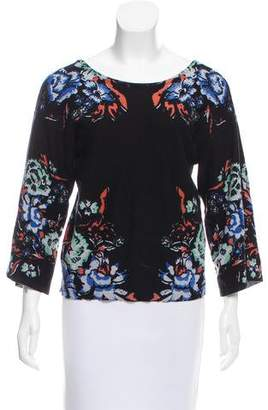 Tracy Reese Printed Long Sleeve Sweater