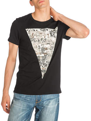 GUESS Collage Graphic Crewneck Cotton Tee