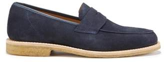 Co Hugs & Brown Suede Loafers Crepe Rubber Welted Sole