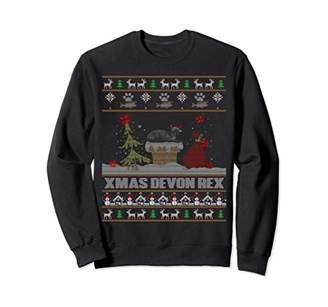 Funny Ugly Sweater Xmas Sweatshirt For Devon Rex cat Lovers
