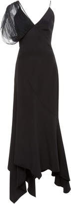 Roberto Cavalli One Shoulder Ruffled Long Dress