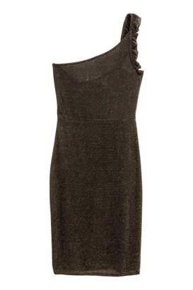 H&M One-shoulder Dress - Black - Women