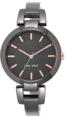 Nine West 1797GNGN Stainless Steel Bangle Bracelet Watch