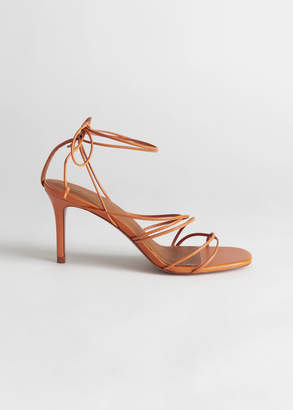 And other stories Strappy Lace Up Leather Stilettos