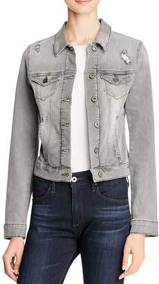 Mavi Samantha Denim Jacket in Grey Vintage $118 thestylecure.com