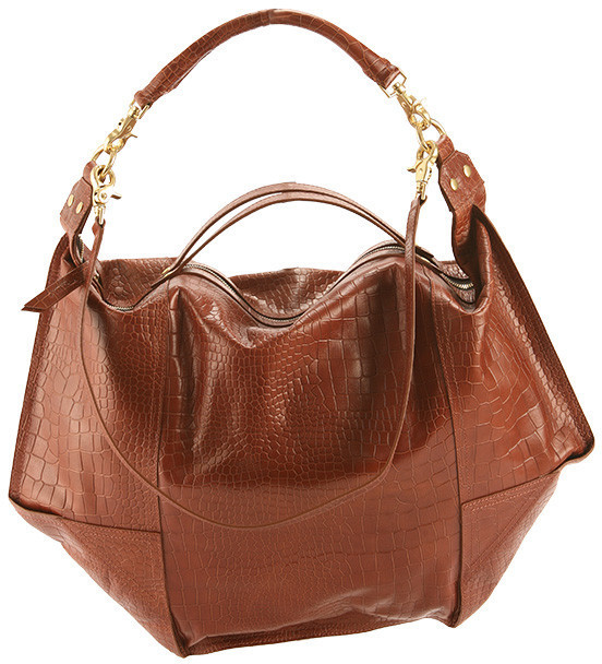 Cynthia Vincent Embossed Croc Leather Dunnaway