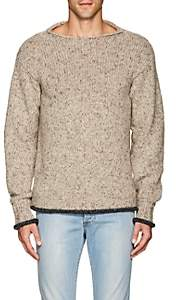 Isaia Men's Mélange Cashmere Relaxed Sweater - Beige, Tan