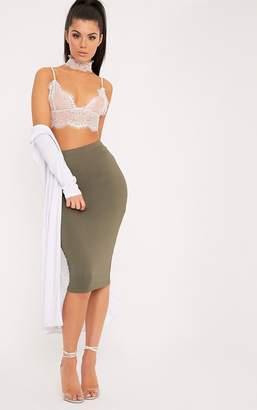 PrettyLittleThing Basic Taupe Long Line Midi Skirt