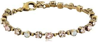 Sorrelli Petite Multi-Cut Round Crystal Line Bracelet