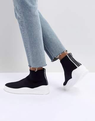 Bronx Black Sock Sneakers