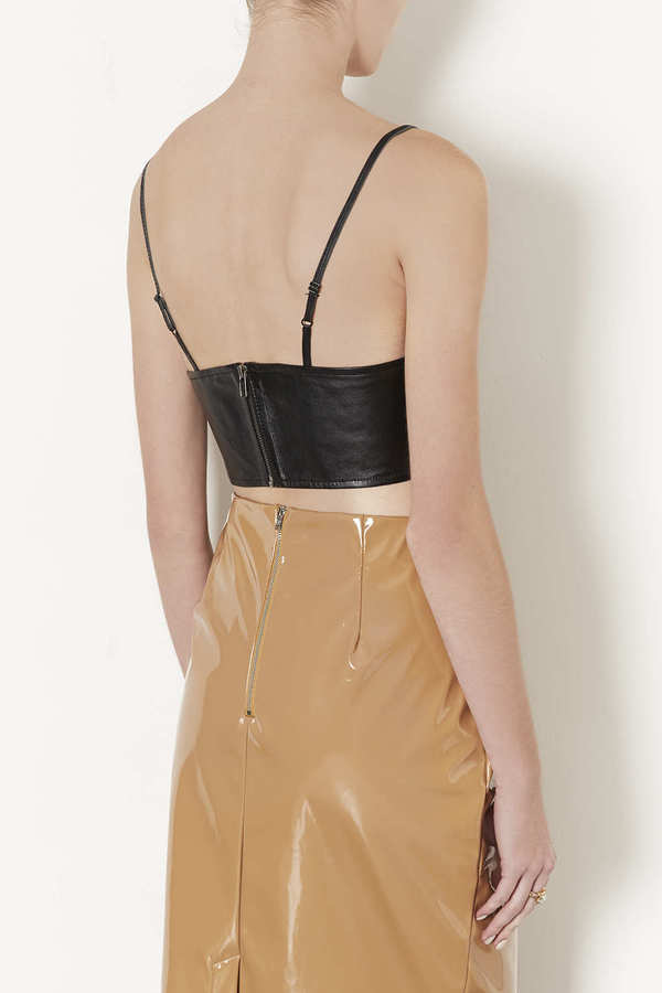 Topshop Leather Bralet
