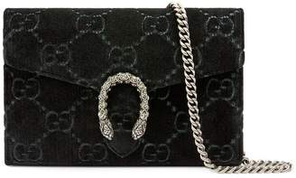Gucci Dionysus GG velvet mini chain wallet