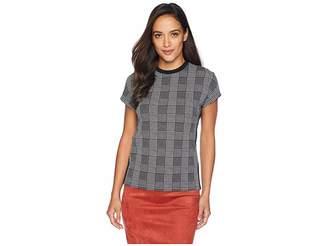 Lauren Ralph Lauren Petite Plaid Jersey T-Shirt
