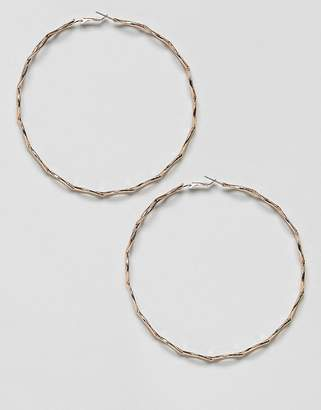 Missguided twist detail hoops in gold