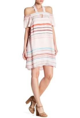 1 STATE 1.State Halter Cold Shoulder Shift Dress