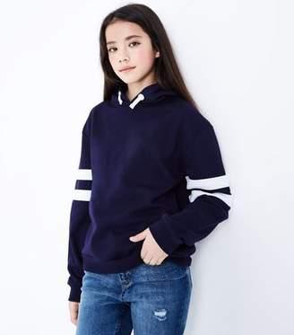 New Look Teens Navy Stripe Sleeve Hoodie