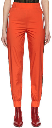 Fendi Orange Forever Ribbon Lounge Pants