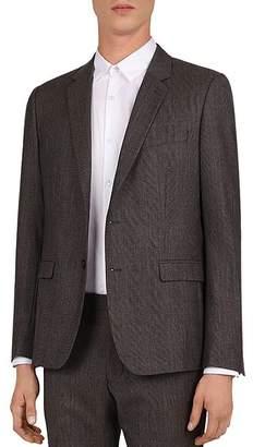 The Kooples Prince of Wales Wool Slim Fit Suit Jacket