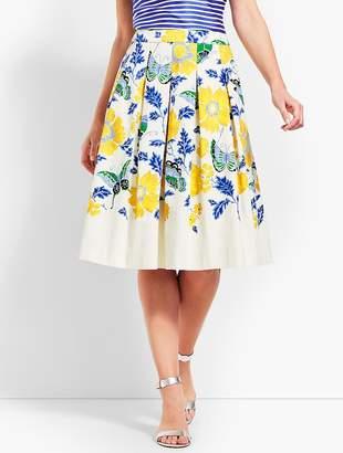 Talbots Full Flowered Skirt