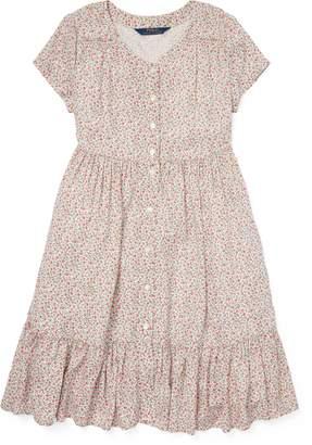 Ralph Lauren Shirred Floral Dress