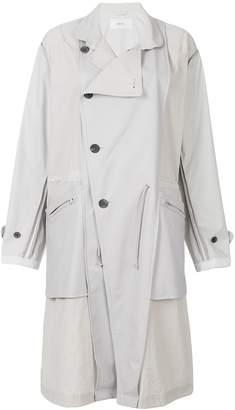 Julien David panel parka coat