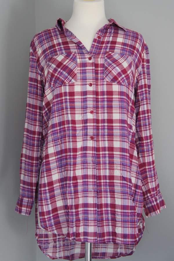 Entro Plaid Long Shirt