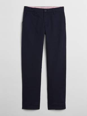 Gap Uniform stain-resistant stretch straight chinos