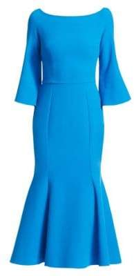 Safiyaa Boatneck Flared Midi Dress