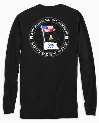 Southern Tide Gameday Nautical Flags Long Sleeve T-shirt - Appalachian State University