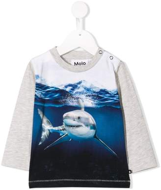 Molo Friendly Shark printed sweatshirt