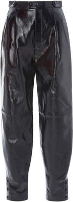 Givenchy Pleated Leather Tapered Pants