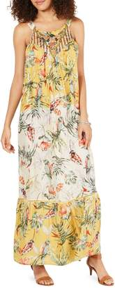Style&Co. Style & Co. Printed Embroidered Maxi Dress