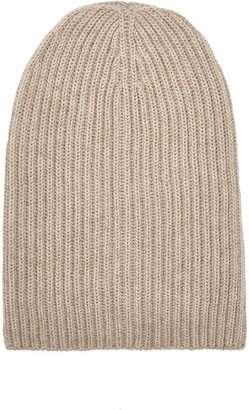 Barneys New York Women's English Rib-Knit Beanie $150 thestylecure.com