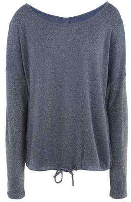 Deha CREW SWEATSHIRT IN LUREX INTERLOCK WITH OPEN BACK Jumper